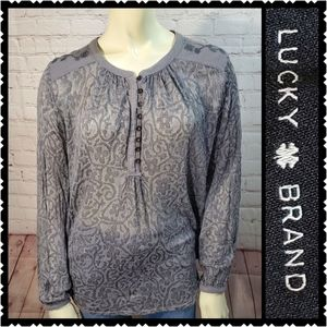 Lucky large blouse flowy casual long sleeve top